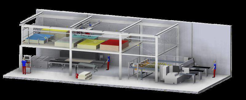 Das neue »Multilevel«-Plattenlager ermöglicht die effiziente Nutzung der vorhandenen Fläche. Bild: Barbaric