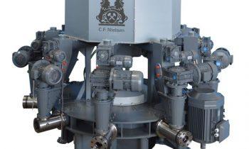 Die neue Stern-Brikettierpresse bietet eine Durchsatzleistung von bis zu 5000 kg/h. Bild: Ruf