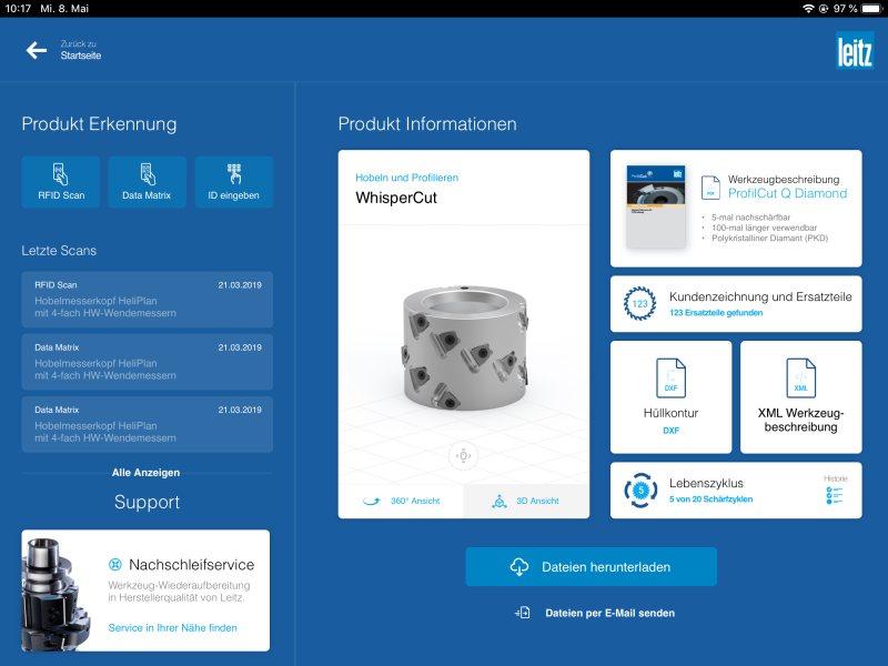 Die Informationsplattform versorgt Kunden mit relevanten Daten. Bild: Leitz