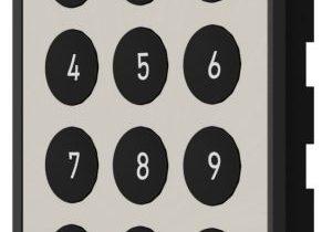 Die neue Tastatur von Lehmann, hier in der Farbkombination Nickel-Schwarz, eignet sich besonders für Nassbereiche. Bild: Lehmann