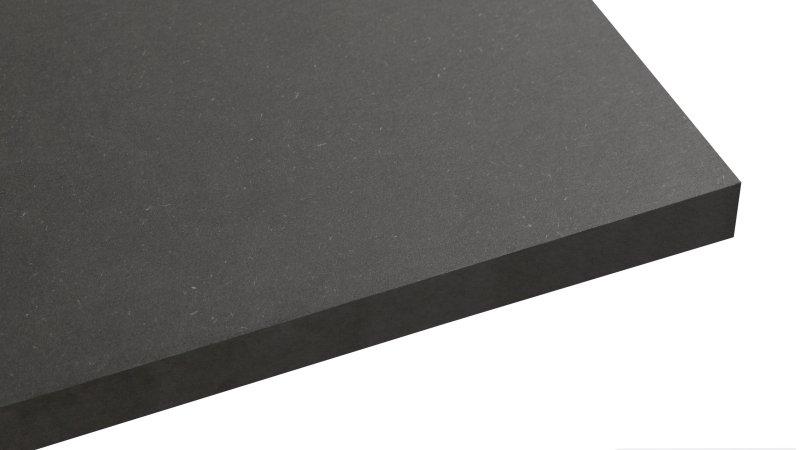 »Innovus Coloured MDF Deep Black« für vielfältige und kreative Anwendungszwecke. Bild: Sonae Arauco