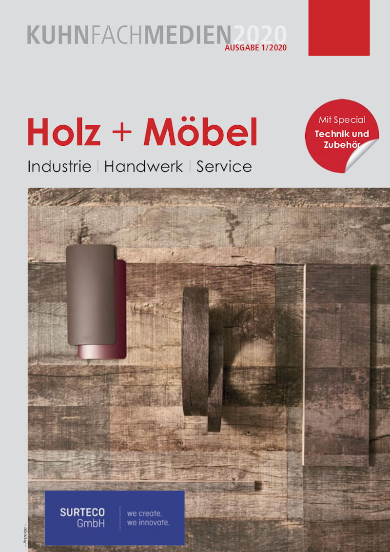 Titelseite »Kuhn Fachmedien Ausg. Holz + Möbel« 2020
