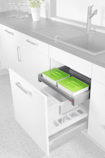Ordnungssysteme nutzen den oftmals begrenzten Platz in der Küche bestmöglich aus. Bild: Hailo