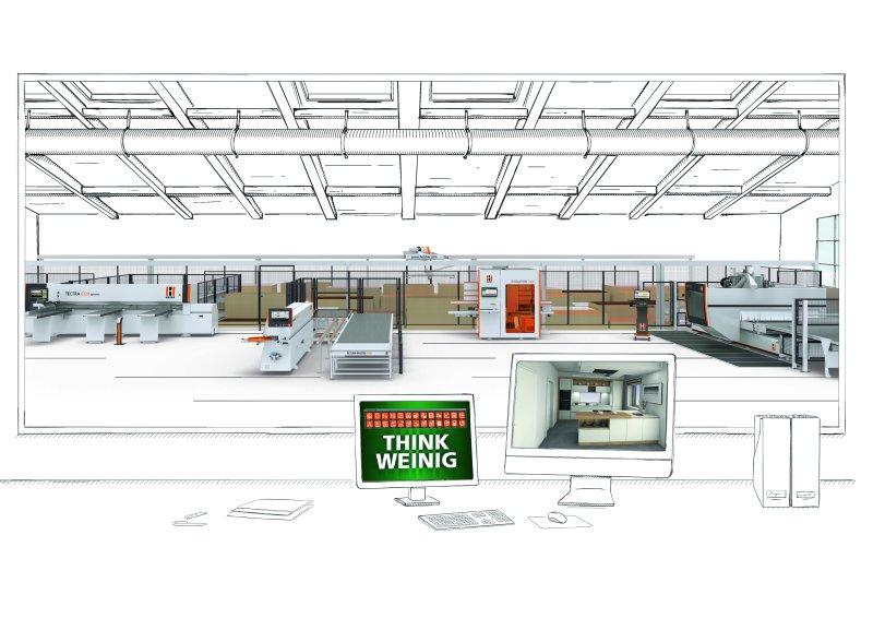 Holz-Her bietet eine Komplettlösung für die Steuerung der Fertigungs- und Materialflüsse in der Werkstatt. Bild: Holz-Her