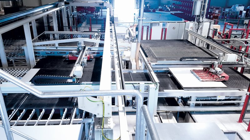 Der Automatisierungsgrad der Säge beträgt 95 Prozent. Bild: Reiss
