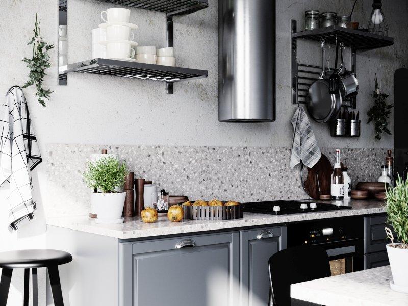 Der Retro-Look des Terrazzo-Dekors »Xanthi« passt zu jedem Einrichtungstrend. Bild: Impress