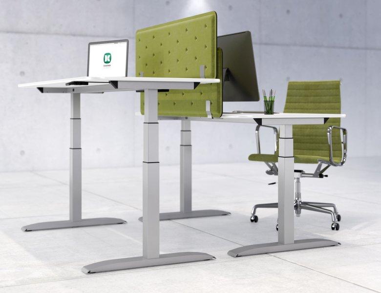 Moderne, ergonomische Steh-Sitz-Arbeitsplätze rücken die Gesunderhaltung in den Fokus. Bilder: Kesseböhmer Ergonomietechnik