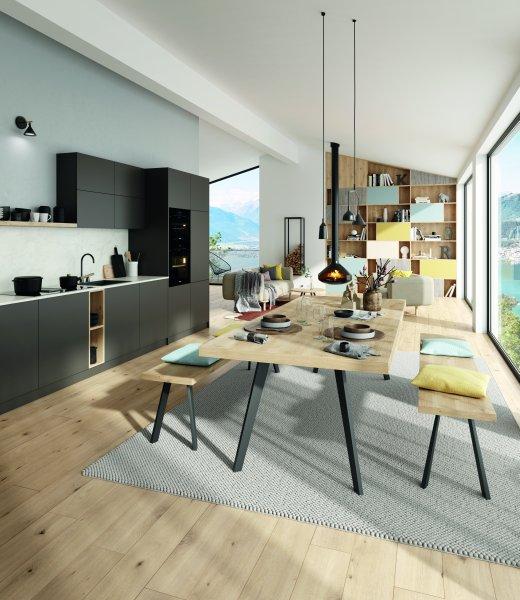 Die »One World Collection« von Swiss Krono wurde von globalen Designtrends inspiriert (im Bild: »Healthy Nordic«). Bild: Swiss Krono