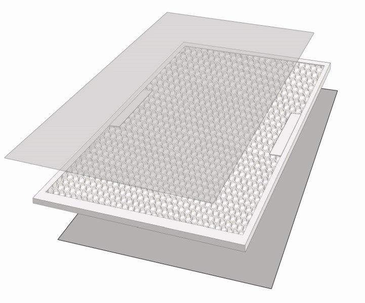 Exemplarischer Aufbau einer Vomo-Leichtbauschiebetür. Bild: Vomo
