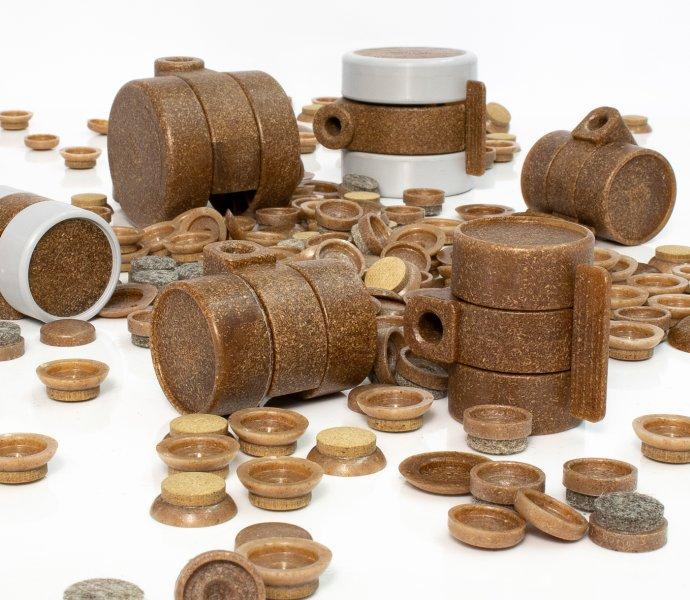 Komponenten mit nachwachsenden Rohstoffen bieten nicht nur eine natürliche Holzanmutung, sondern auch eine positive Energiebilanz. Bild: Wagner System