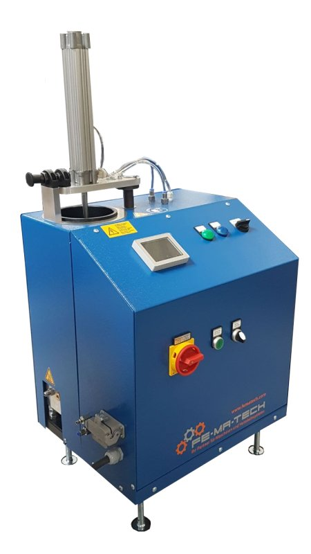Der PUR-Zweifarbenaufschmelzer von Fe-Ma-Tech ermöglicht Anwendern die Arbeit mit zwei PUR-Klebstofffarben (Bild: Fe-Ma-Tech).