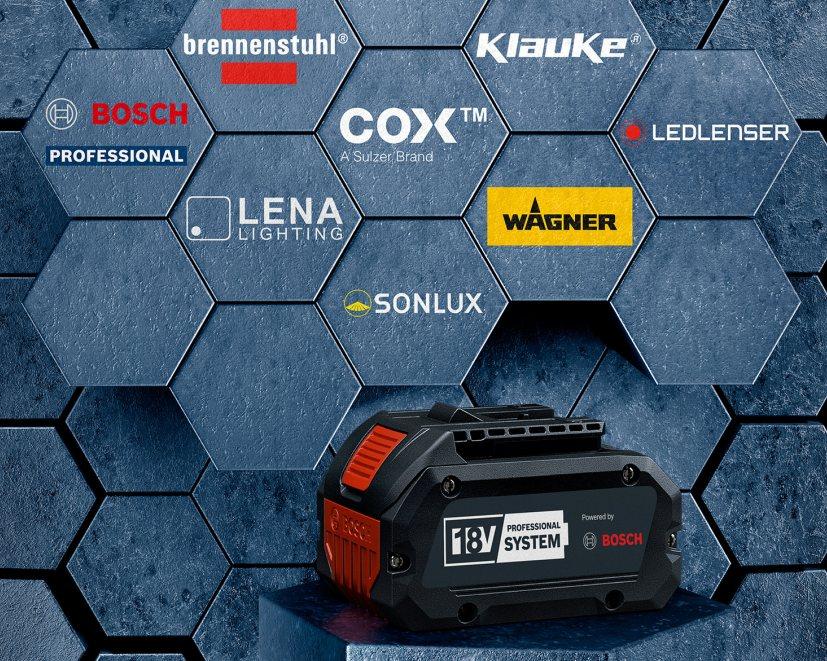 Die 18-V-Akku-Plattform ist offen für weitere Hersteller (Bild: Bosch Power Tools).