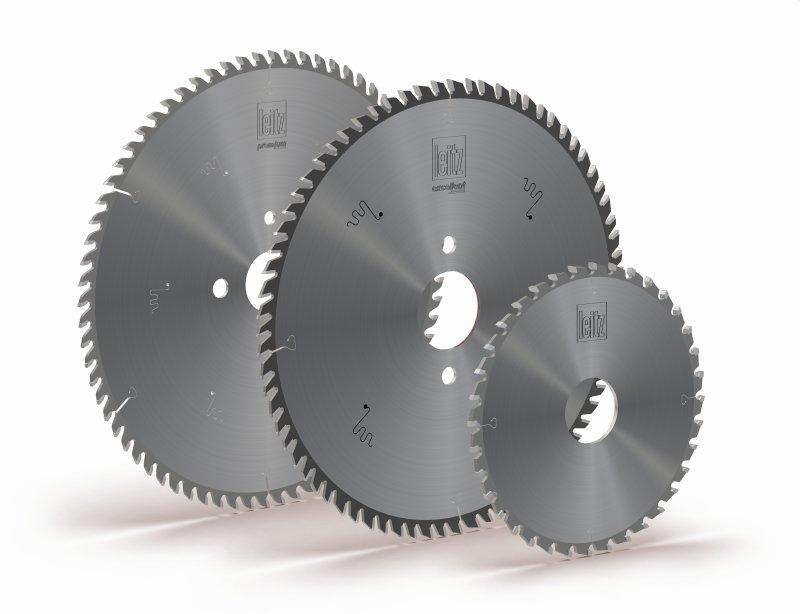 Das Produktprogramm an Plattenaufteil-Kreissägeblättern deckt ein breites Anwendungsspektrum ab (Bild: Leitz).