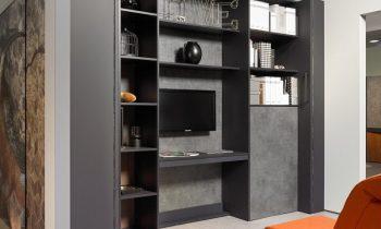 Im »Transforming Apartment« werden Räume mit verschiebbaren Wandelementen angepasst (Bild: Hettich).